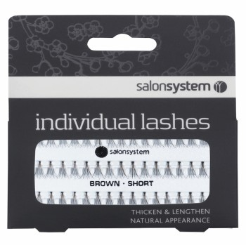 Salon System Flare Brown Short Individual Lashes