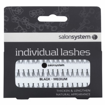 Salon System Flare Black Medium Individual Lashes