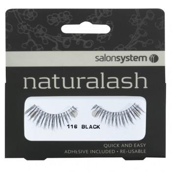 Salon System Naturalash Strip Lashes - 116 Black