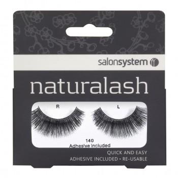 Salon System Naturalash Strip Lashes - 140 Black