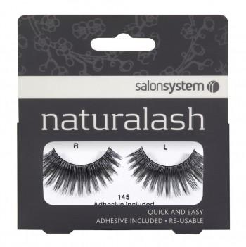 Salon System Naturalash Strip Lashes - 145 Black