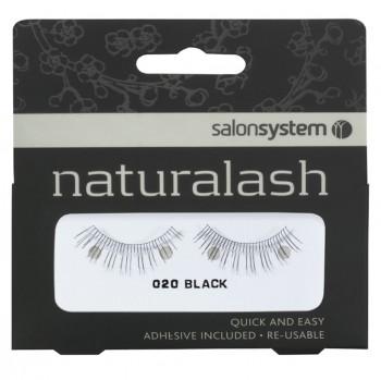 Salon System Naturalash Strip Lashes - 020 Black