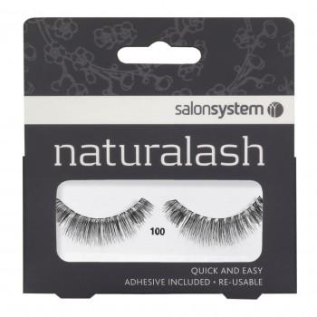Salon System Naturalash Strip Lashes - 100 Black