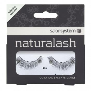 Salon System Naturalash Strip Lashes - 155 Black
