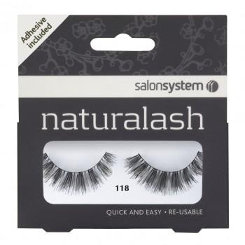 Salon System Naturalash Strip Lashes - 118 Black