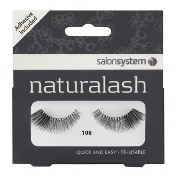 Salon System Naturalash Strip Lashes - 108 Black
