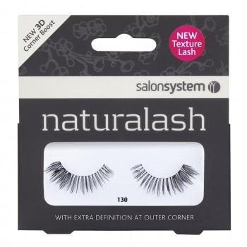 Salon System Naturalash Strip Lashes - 130 Black