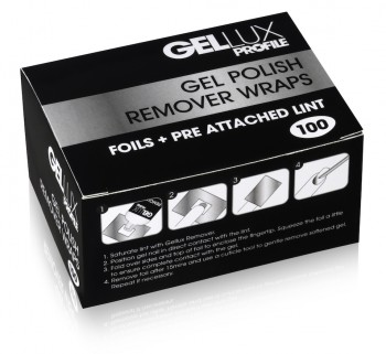Gellux Remover Wraps (pack of 100)